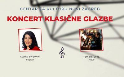 Koncert klasične glazbe: Ksenija Sanjković i Tomislav Leko