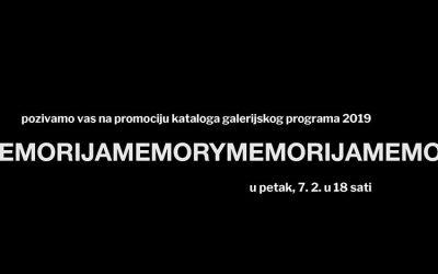 Predstavljanje kataloga 'Memorija' Galerije Vladimir Bužančić