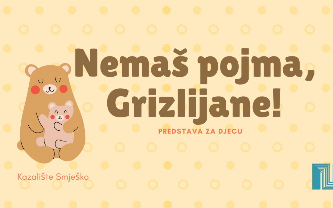 Nemaš pojma, Grizlijane – predstava za djecu